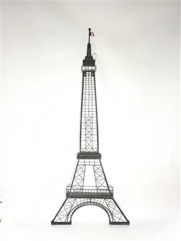 Sale 9175G - Lot 71 - Eiffel Tower Metal Sculpture Wall Hanging.General Wear . Size :138cm H X 59cm W at base