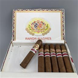 Sale 9182W - Lot 842A - Ramon Allones Caprichos Cuban Cigars - 2014 Spain Regional Edition, partial box of 6/10 cigars, stamped July 2014