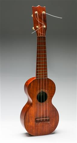 Sale 9192 - Lot 12 - A J Albert & Son Early Ukulele In Case (L:52.5cm) (Provenance Sir Charles Kingsford Smith)