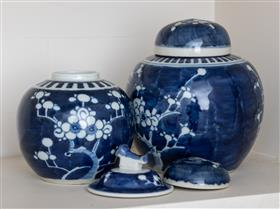 Sale 9195H - Lot 68 - Sundry blue and white ginger jars