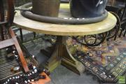 Sale 8299 - Lot 1081 - Checker Pattern Round Top Dining Table (120cm)