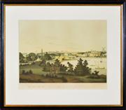 Sale 8363 - Lot 572 - John Eyre (1771 - c1812) - View of Sydney from the East Side of the Cove, No. 1, 1810 37 x 50cm