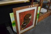 Sale 8346 - Lot 2044 - Painting of Man w 2 Others