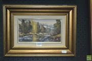 Sale 8422T - Lot 2023 - Werner Filipich (1943 - ) - River 11.5 x 21.5cm