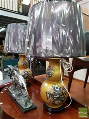 Sale 8480 - Lot 1083 - Pair of Italian Double Gourd Table Lamps (3244)
