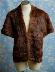 Sale 8577 - Lot 91 - A vintage 1950s Solmar Fine Furs  brown rabbit stole, Condition: Very Good