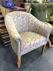 Sale 8801 - Lot 1560 - Modern Upholstered Tub Chair