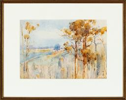Sale 9190H - Lot 243 - Penleigh Boyd View to the River, Watercolour, 23x35cmSLR