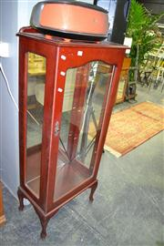 Sale 8019 - Lot 1071 - Raised Timber Mirrored Back Display Cabinet