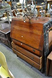 Sale 8031 - Lot 1070 - Probably Blackwood Bureau w 3 Drawers Below