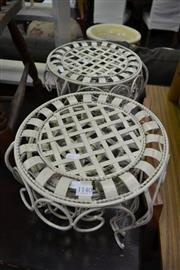 Sale 8093 - Lot 1140 - Pair of Metal Graduated Plant Stands
