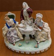 Sale 8313A - Lot 11 - An Unterweissbach table centrepiece, The Tea Party, length 27cm