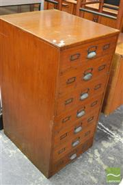 Sale 8338 - Lot 1091 - Timber Cabinet with Seven Drawers