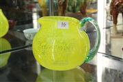 Sale 8339 - Lot 16 - Kosta Boda Art Glass Lemon Jug by Gunnel Sahlin (AF)