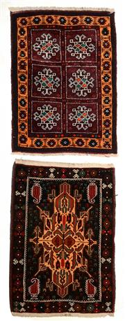 Sale 8402C - Lot 30 - 2 Persian Door Mats 80cm x 60cm
