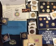 Sale 8465J - Lot 324 - VARIOUS COLLECTOR COINS; 1977 The Last Run of the Orient Express, The American Bicentennial Medallic First Day Cover, Proof Coinage...