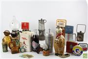 Sale 8540 - Lot 120 - Gentlemans Collection Incl Drinking Goblets, Cards, Pen Lighter,  Miners lamp And Others Incl Buoys