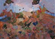 Sale 8609 - Lot 2011 - Norma Gibson - Sunlit Hills of Glenorie Near Dural 43.5 x 59.5cm