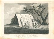 Sale 9037A - Lot 5020 - Thomas Medland (c1765 - 1833) - View of a Hut in New South Wales,1789 copper engraving