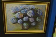 Sale 8214 - Lot 2106 - M. Broadbent (XX) (4 works) Still Lifes, oils on canvas boards, various sizes, each signed