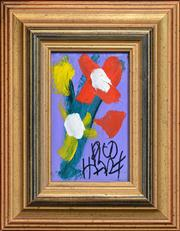 Sale 8259 - Lot 512 - Kevin Charles (Pro) Hart (1928 - 2006) - Flowers 11 x 6.5cm