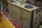 Sale 8323 - Lot 1031 - Chequered Pattern Three Drawer Sideboard
