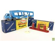 Sale 8559A - Lot 37 - Two Lesney Matchbox Accessory Packs, Car Transporter Truck no. 2 & Esso Forecourt Sign no. 1. Boxed