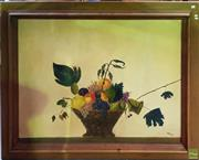 Sale 8595 - Lot 2094 - M Moralis, Still Life of a Fruit Basket, oil on canvas, frame size: 126 x 155cm, signed lower right