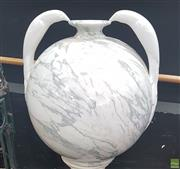 Sale 8648C - Lot 1004 - Marble Round Vase with Handles
