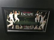 Sale 8805A - Lot 823 - The Great Escape, Australian Cricket, Limited Edition 6 of 1000, framed