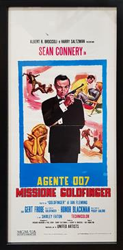Sale 8908 - Lot 1008 - James Bond- Gold Finger Movie Poster