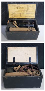 Sale 8976N - Lot 335 - Pair of Cased Admirality Lantern Signaling Units with Battery packs in Field Cases by ELE Co, St. Albans, 1939 (h:150 x l:300 x d:27...