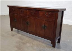 Sale 9188 - Lot 1438 - Oriental sideboard with four drawers and three doors (h90 x w180 x d34cm)