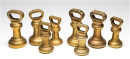 Sale 9255S - Lot 100 - A large collection of bell weights (8)