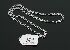 Sale 3719 - Lot 82 - AN 18CT WHITE GOLD NECKLET, OPEN RECTANGULAR LINKS, WEIGHT 20g.