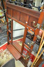 Sale 8161 - Lot 1080 - Victorian Reproduction Mirrored Hallstand