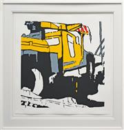 Sale 8301A - Lot 32 - Jasper Knight (1978 - ) - Truck Overtaking, 2009 65 x 65cm