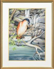 Sale 8282A - Lot 9 - Charles A. Newman (1913 - ) - Waterbird, 1987 47 x 32cm
