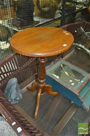 Sale 8331 - Lot 1564 - Pair of Timber Lamp Tables on Tripod Base