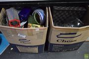 Sale 8563T - Lot 2536 - 2 Large Boxes of Sundries Including Kitchenware, Ceramics, Glasswares and Metalwares etc.