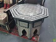 Sale 8648C - Lot 1015 - Mother of Pearl Inlaid Octagonal Top Coffee Table