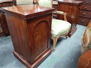 Sale 8814 - Lot 1007 - Pair of Early 19th Century Mahogany Pedestals Converted to  Bedsides, each with a cross-banded arched panel door