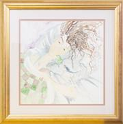Sale 9066H - Lot 29 - Two watercolours depicting a Frog Princess in gilt frames. 63 x 60 and 55 x 74.