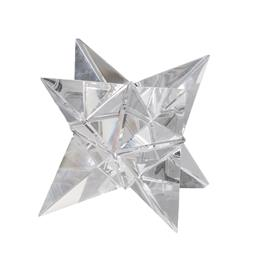 Sale 9140F - Lot 178 - A Glass Crystal Star Ornament with a smooth surface, faceted glass lines and light weight. Dimensions: W12 x D12 x H12 cm