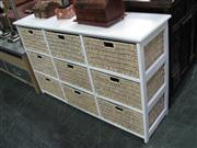 Sale 7933A - Lot 1113 - Wicker Storage Cabinet of 9 Drawers