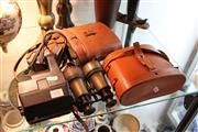 Sale 8100 - Lot 64 - Binoculars with Leather Case & Cameras with Leather Case