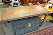 Sale 8115 - Lot 1260 - Copper Top Hall Table