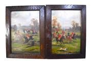 Sale 8342A - Lot 45 - Georges Louis Busson, French 1859- 1933 - Pair of Hunting Scenes