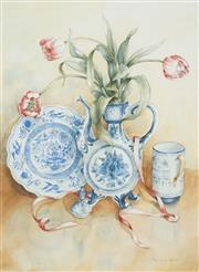 Sale 8518 - Lot 2015 - Pam Sackville (1944 - ) - Still Life, 1998 74 x 54cm