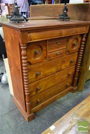 Sale 8550 - Lot 1235 - Timber Reproduction Chest of Eight Drawers incl. Frieze Drawer